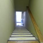 1階入り口より2階室内へ続く階段